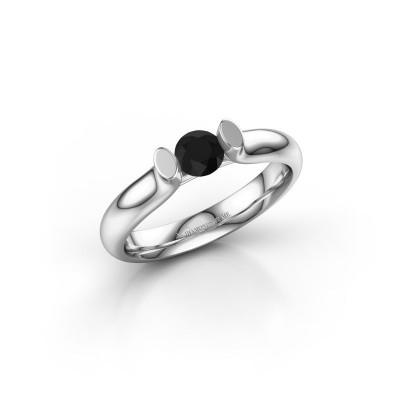 Foto van Verlovingsring Ashlyn 1 585 witgoud zwarte diamant 0.36 crt
