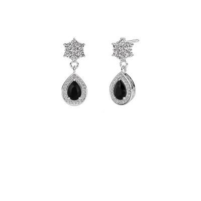 Drop earrings Era 950 platinum black diamond 1.61 crt