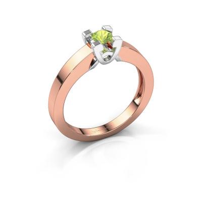 Verlovingsring Nina 1 585 rosé goud peridoot 3.7 mm