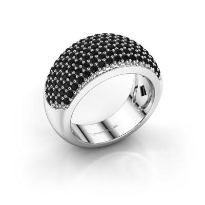 Foto van Ring Kati 950 platina zwarte diamant 1.44 crt