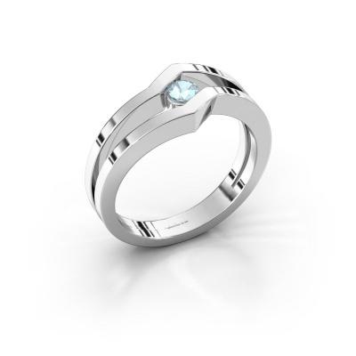 Ring Elize 585 white gold aquamarine 3.4 mm