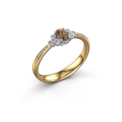 Verlobungsring Lucy 2 585 Gold Braun Diamant 0.969 crt