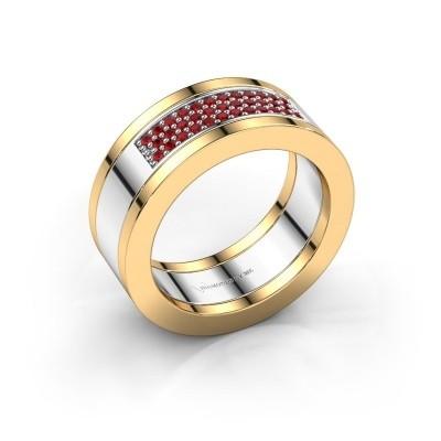 Foto van Ring Marita 1 585 witgoud robijn 1.1 mm