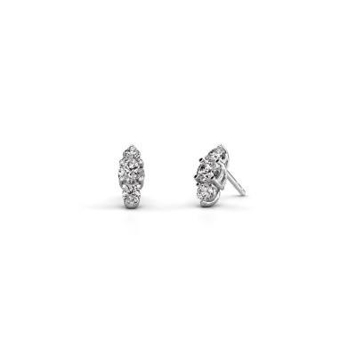 Oorbellen Amie 950 platina diamant 1.00 crt