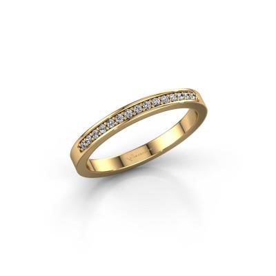 Foto van Aanschuifring SRJ0005B20H4 375 goud diamant 0.113 crt