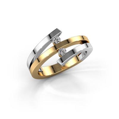 Bild von Ring Synthia 585 Gold Diamant 0.12 crt