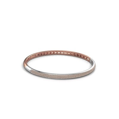 Picture of Bangle Emely 4mm 585 rose gold brown diamond 1.178 crt