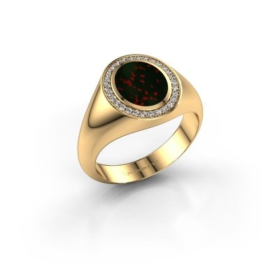 Pinky ring Adam 1 585 gold bloodstone 10x8 mm