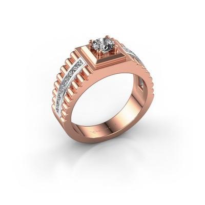 Foto van Heren ring Maikel 585 rosé goud diamant 0.74 crt