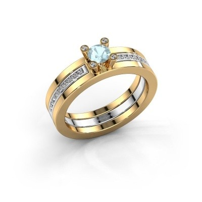 Picture of Ring Alisha 585 gold aquamarine 4 mm