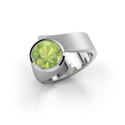 Ring Nakia 925 silver peridot 8 mm