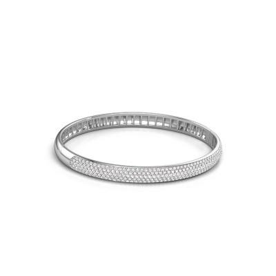 Foto van Armband Emely 6mm 585 witgoud diamant 2.013 crt