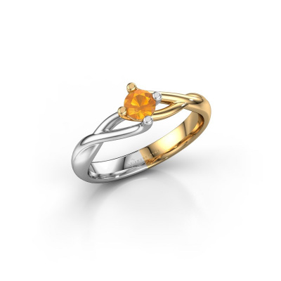 Picture of Engagement ring Paulien 585 gold citrin 4 mm