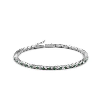 Tennis bracelet Simone 585 white gold emerald 2 mm