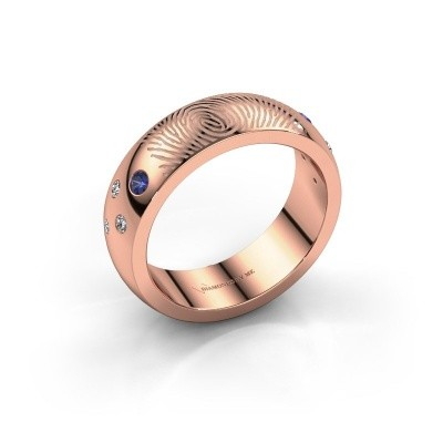 Picture of Ring Minke 375 rose gold sapphire 2 mm