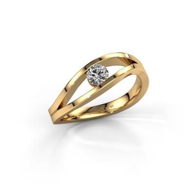 Foto van Ring Sigrid 1 585 goud zirkonia 4 mm