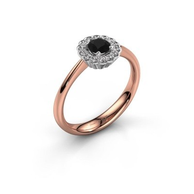 Verlovingsring Debi 585 rosé goud zwarte diamant 0.50 crt