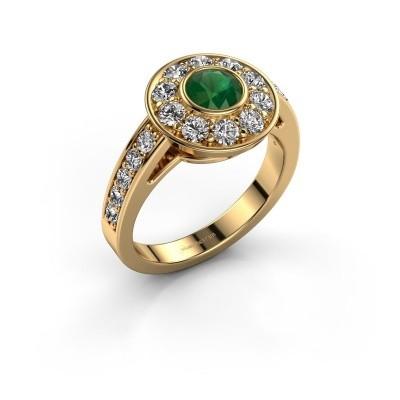 Verlovingsring Raven 2 375 goud smaragd 5 mm