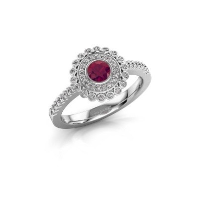 Engagement ring Shanelle 925 silver rhodolite 4 mm