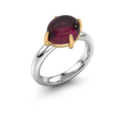 Bague Melodee 585 or blanc rhodolite 10x8 mm