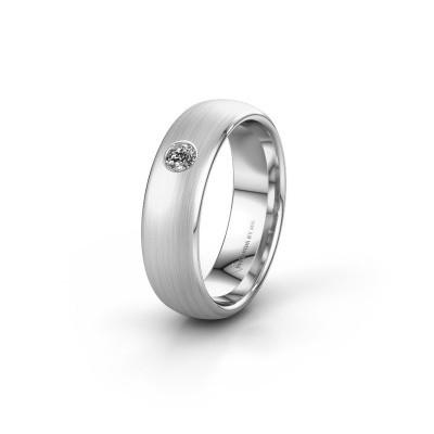Trouwring WH0101L36BM 950 platina diamant ±6x2 mm
