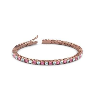Tennisarmband Jenny 375 rosé goud roze saffier 3.5 mm