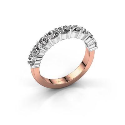 Foto van Verlovingsring Yasmin 9 585 rosé goud diamant 1.80 crt