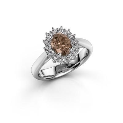Foto van Verlovingsring Margien 1 925 zilver bruine diamant 0.80 crt