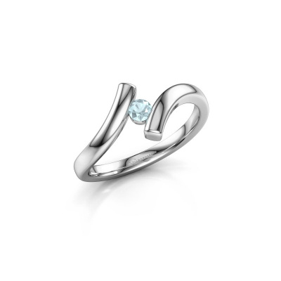 Picture of Ring Amy 925 silver aquamarine 3 mm