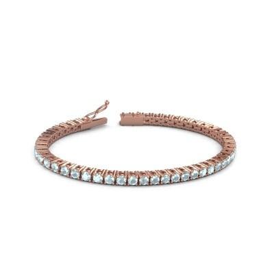 Tennisarmband Jenny 375 rosé goud aquamarijn 3.5 mm