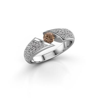 Foto van Verlovingsring Hojalien 3 925 zilver bruine diamant 0.73 crt