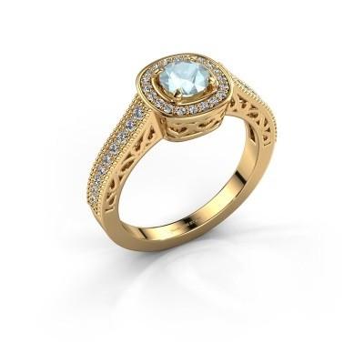 Verlovings ring Candi 375 goud aquamarijn 5 mm
