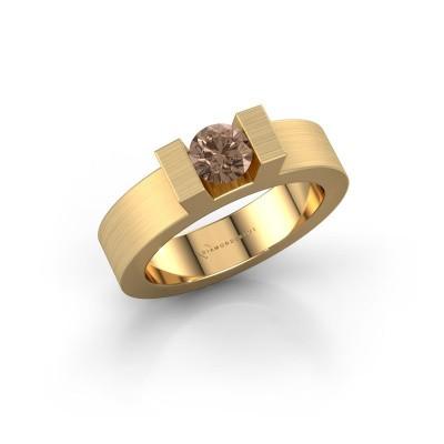 Foto van Ring Leena 1 375 goud bruine diamant 0.50 crt