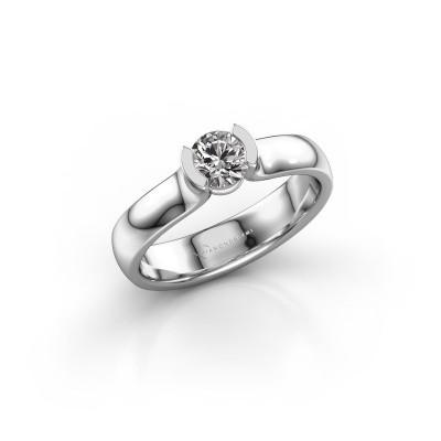 Verlovingsring Ophelia 585 witgoud diamant 0.40 crt