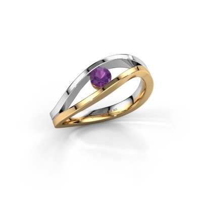 Engagement ring Sigrid 1 585 gold amethyst 3.7 mm