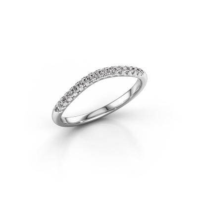 Stackable ring SR10A6H 950 platinum diamond 0.18 crt