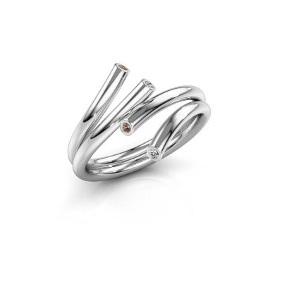 Foto van Ring Siewke 925 zilver bruine diamant 0.048 crt