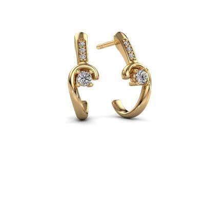Foto van Oorbellen Ceylin 585 goud diamant 0.16 crt