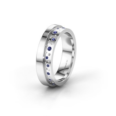 Wedding ring WH6016L15E 925 silver sapphire ±0.20x0.1in