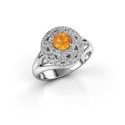 Ring Leonora 925 silver citrin 5 mm