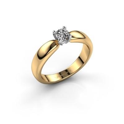 Foto van Promise ring Katrijn 585 goud zirkonia 4.2 mm