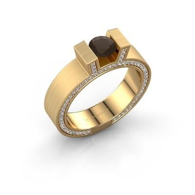 Foto van Ring Leena 2 375 goud rookkwarts 5 mm