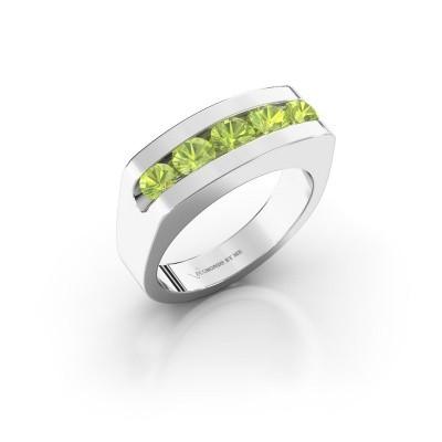 Foto van Heren ring Richard 925 zilver peridoot 4 mm
