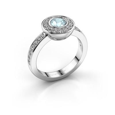 Ring Ivy 585 white gold aquamarine 5 mm