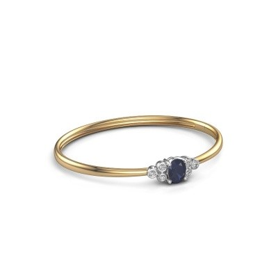 Bangle Lucy 585 gold sapphire 8x6 mm