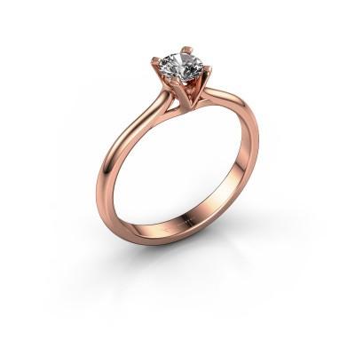 Foto van Verlovingsring Isa 1 375 rosé goud diamant 0.30 crt