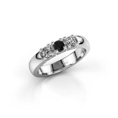 Foto van Verlovingsring Rianne 3 925 zilver zwarte diamant 0.48 crt