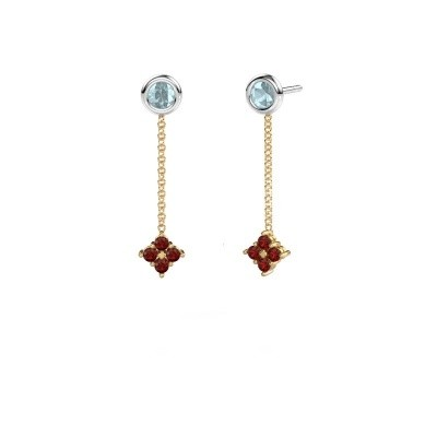 Picture of Drop earrings Ardith 585 gold garnet 2 mm
