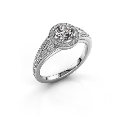 Aanzoeksring Angelita RND 585 witgoud lab-grown diamant 0.832 crt