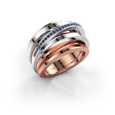 Ring Swinda 585 Roségold Saphir 1 mm